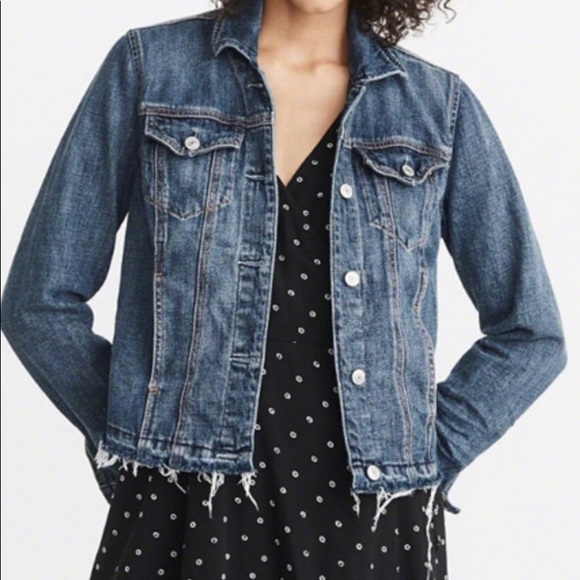 Abercrombie & Fitch Frayed Bottom Jean Jacket